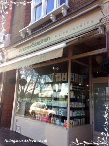 The hairdressers is a short bus ride from East Sheen.