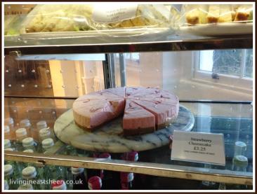 slice of strawberry cheesecake £3.25