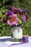 jam jar with flowers