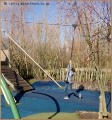 My son of course loved this zip wire