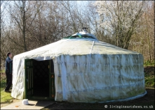 Covered yurt yet to be exposed
