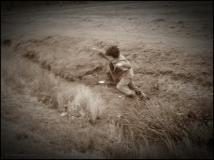Wooo hooo, leaping child.