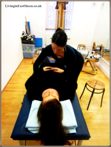 Touch is used to locate and release tension held in the bones (which is deeper than muscle-held tension) and as a result the muscles in turn are able fully to release their tension.