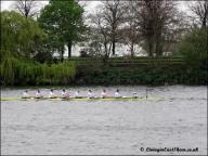 Cambridge lagging behind but in good spirits.