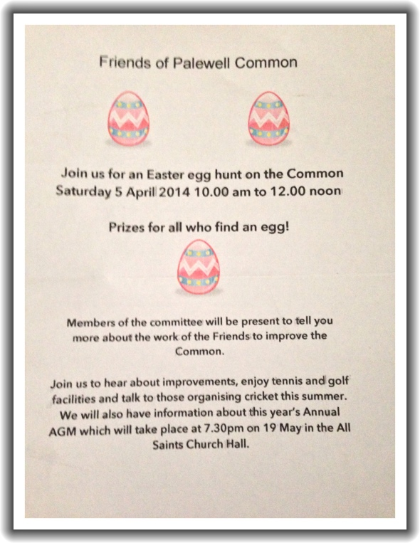 East Egg Hunt Palewell Common