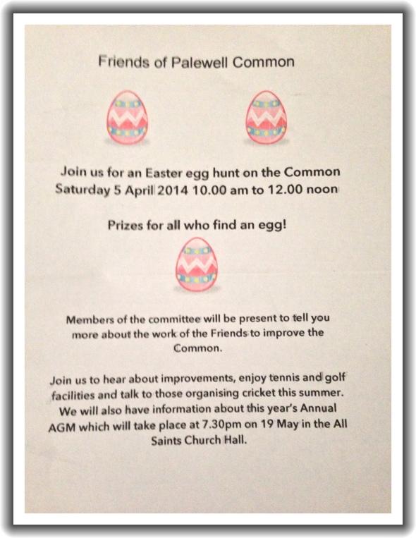 East Egg Hunt Palewell Common