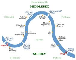 The Boat Race map