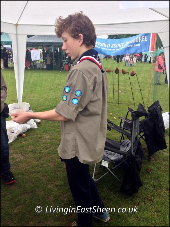 Scouts Jamboree Coconut shy