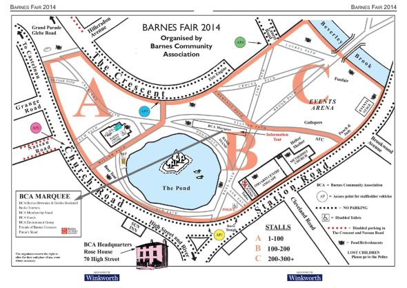 Barnes Fair Fairground Map