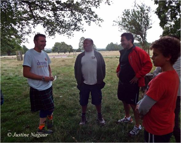 My family meeting Rob Young Marathon Man UK