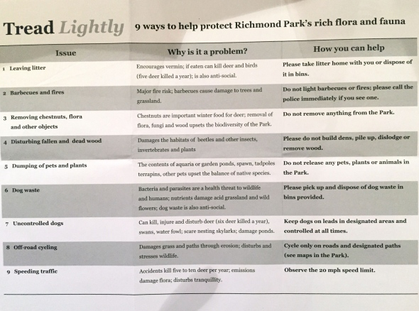 Tread lightly in Richmond Park