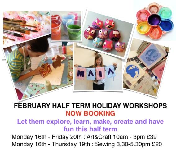 Craft House Half Term Activities