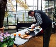 Claudio Bincoletto preparing food