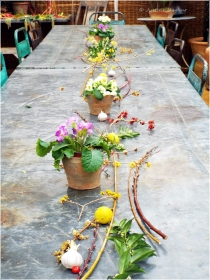 Beautiful natural table decorations