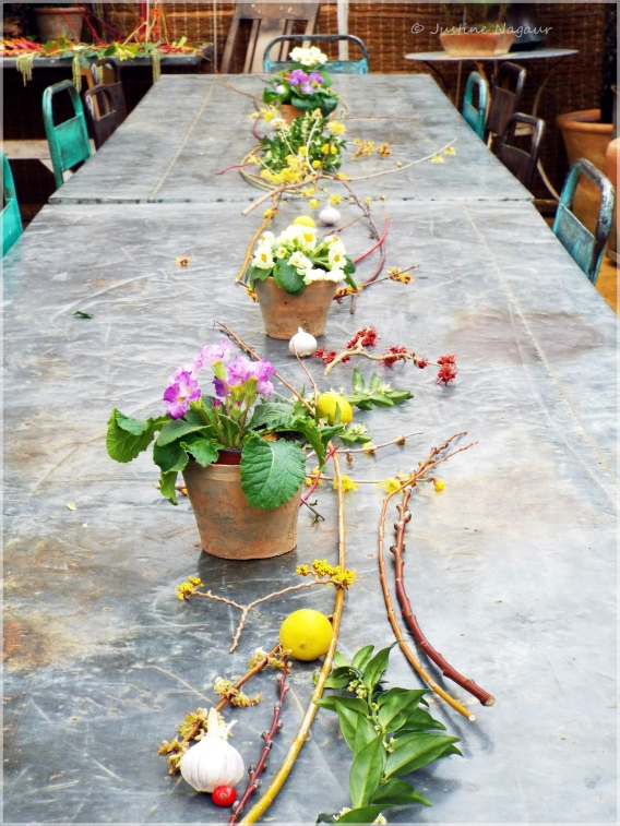 Beautiful natural table decorations