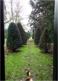 We pass some of the private gardens