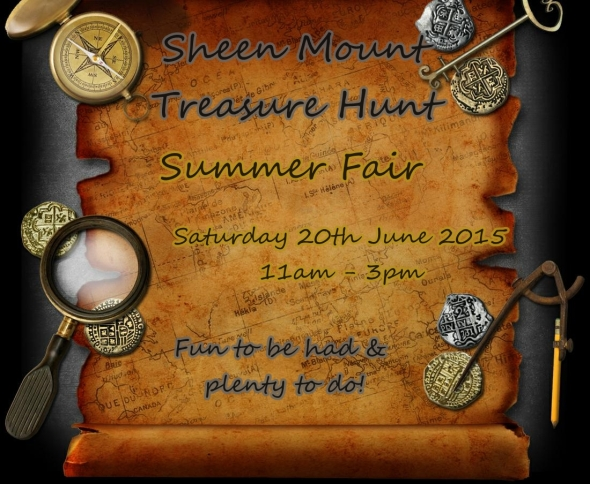 Sheen Mount Summer Fair, Treasure Hunt Theme, Sat 20th June 2015, 11am - 3pm