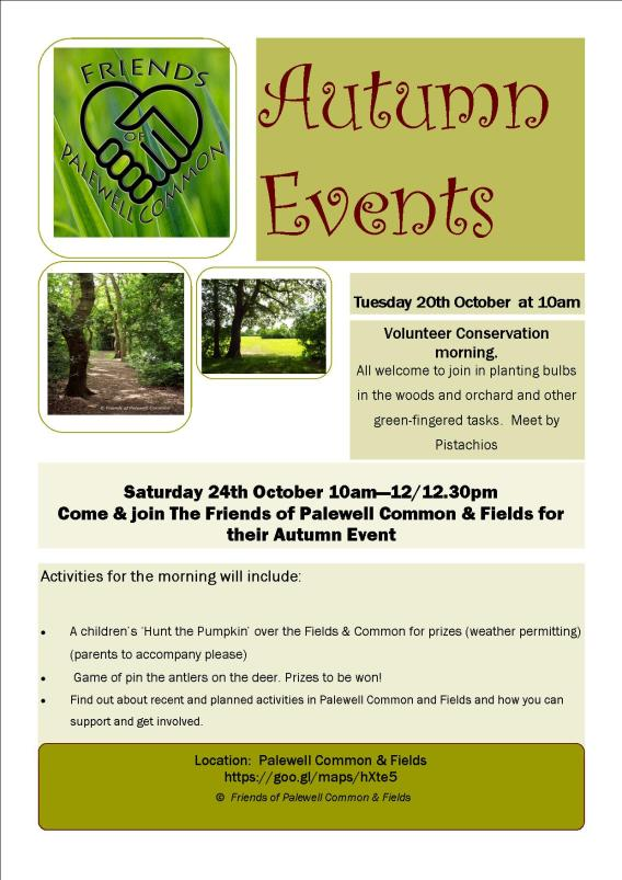 Friends of Palewell Common 25th October event